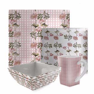 small pink platter