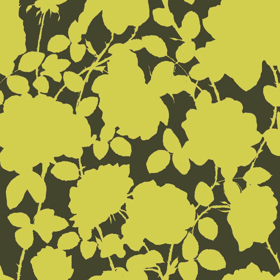 Yellow on Dark Gray Floral