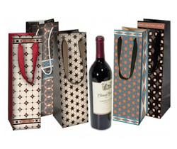 Coordinating Geometric Wine gift bags