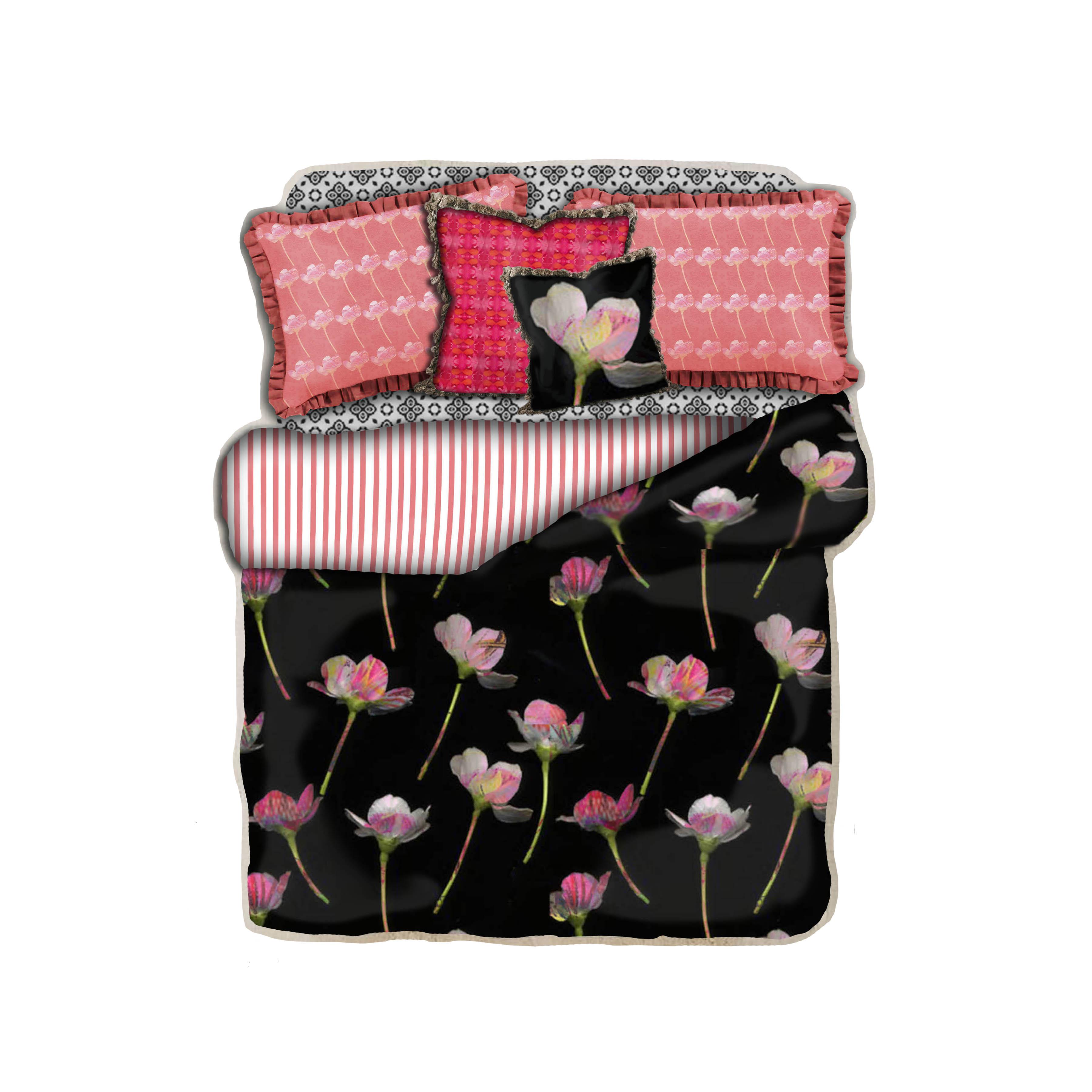 falling flower bedding w border