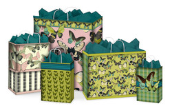 Green butterfly coordinating gift bags