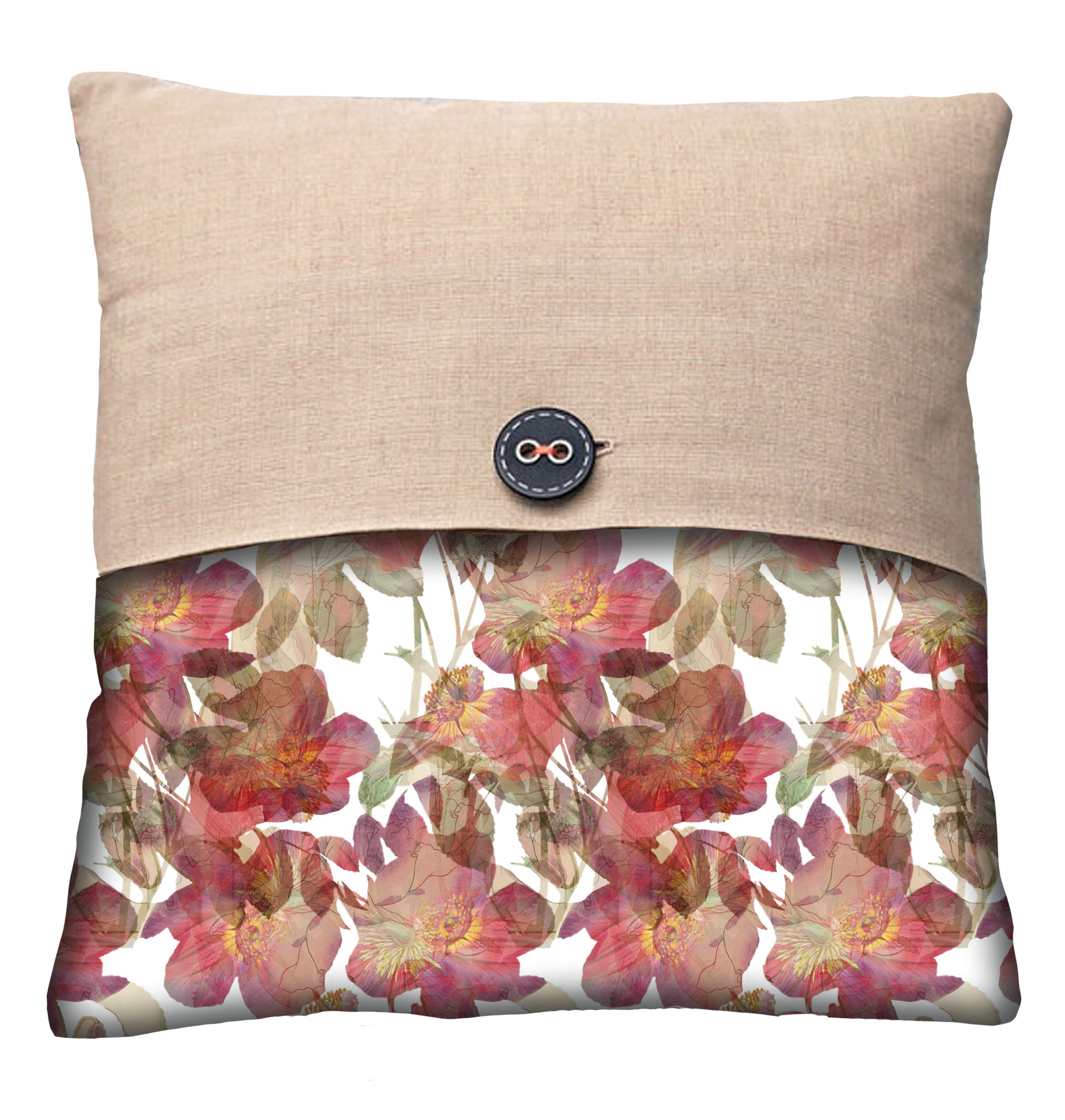 Floral Overlay pillow