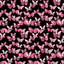 pink butterflies fill on black