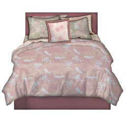 pink and Green coordinating bedding