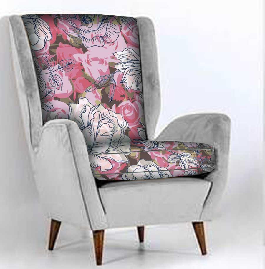 Light Rose Floral chair