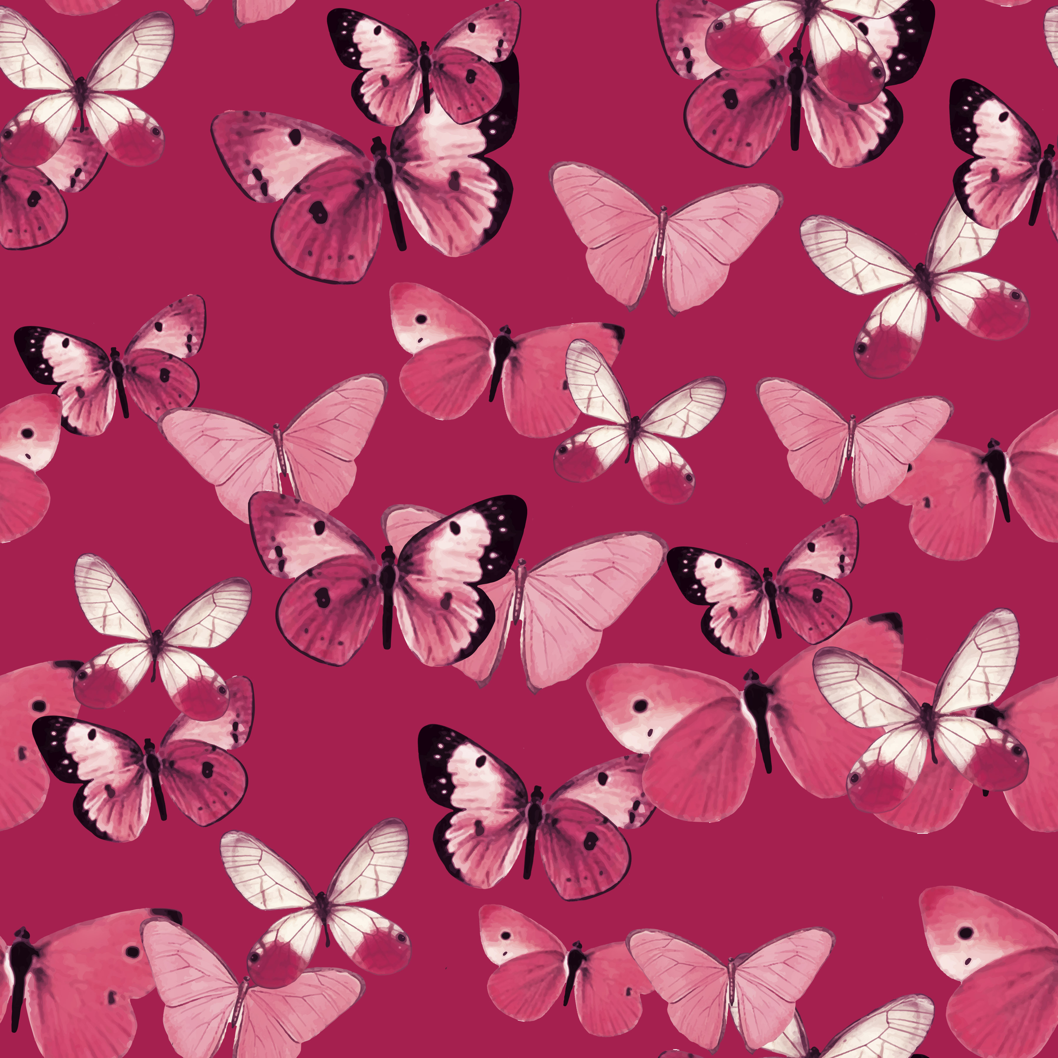 LG pink butterflies fill on dkpink