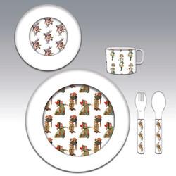 Alice in Wonderland plate set