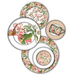Apple Blossom plate set