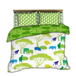 Kids Green Jungle coordinating bedding