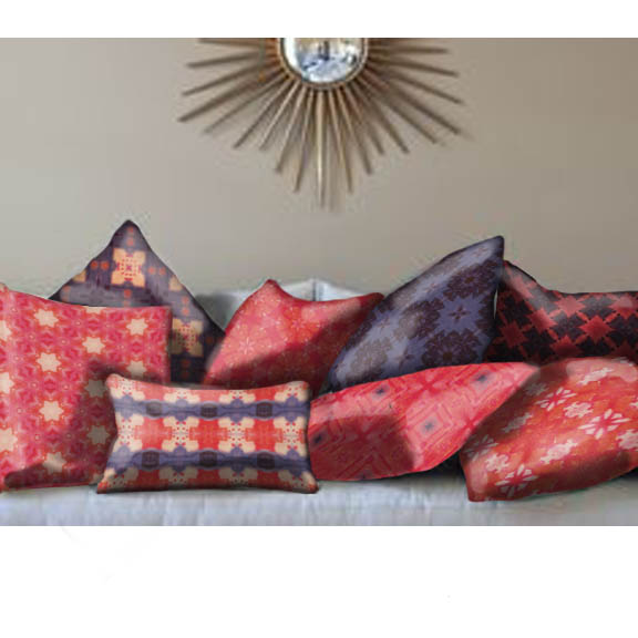 """So What"" assorted pillows"
