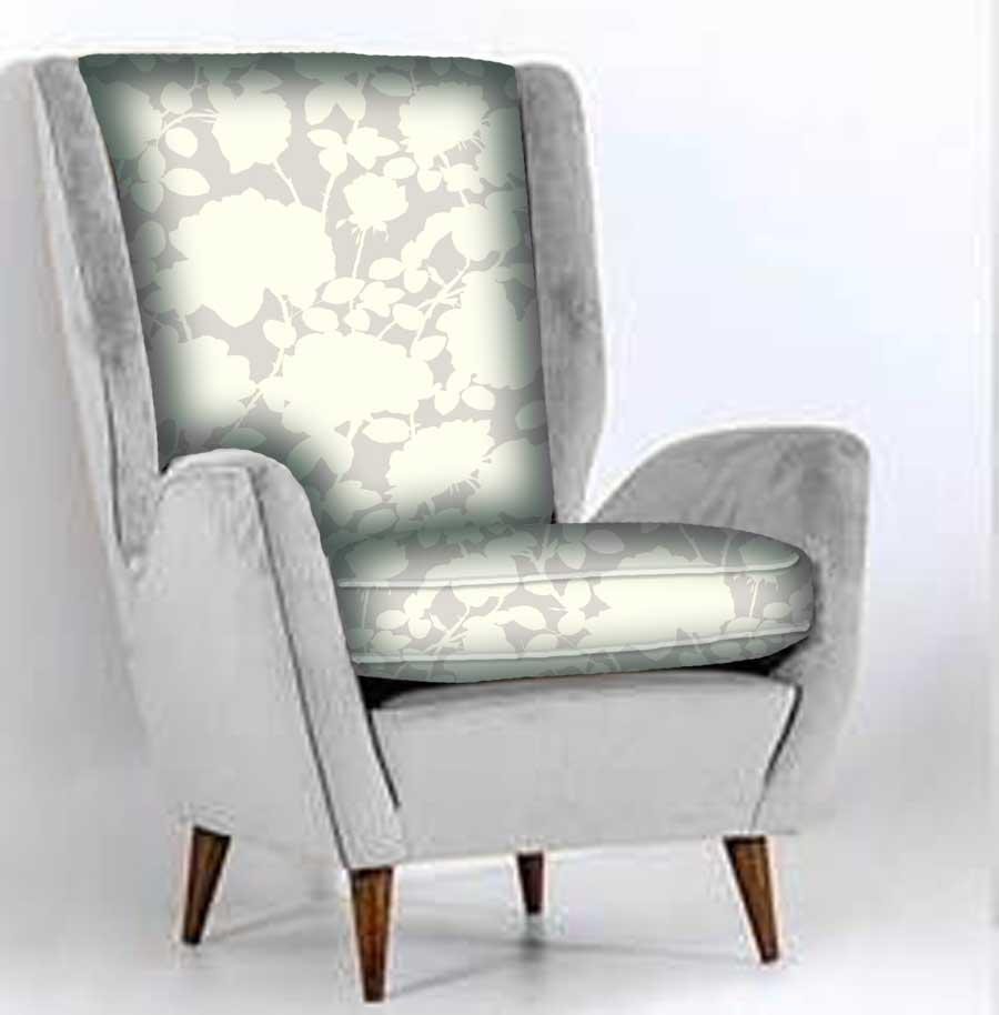 Beige on Beige floral chair