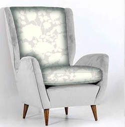 Silver Gray Floral chair