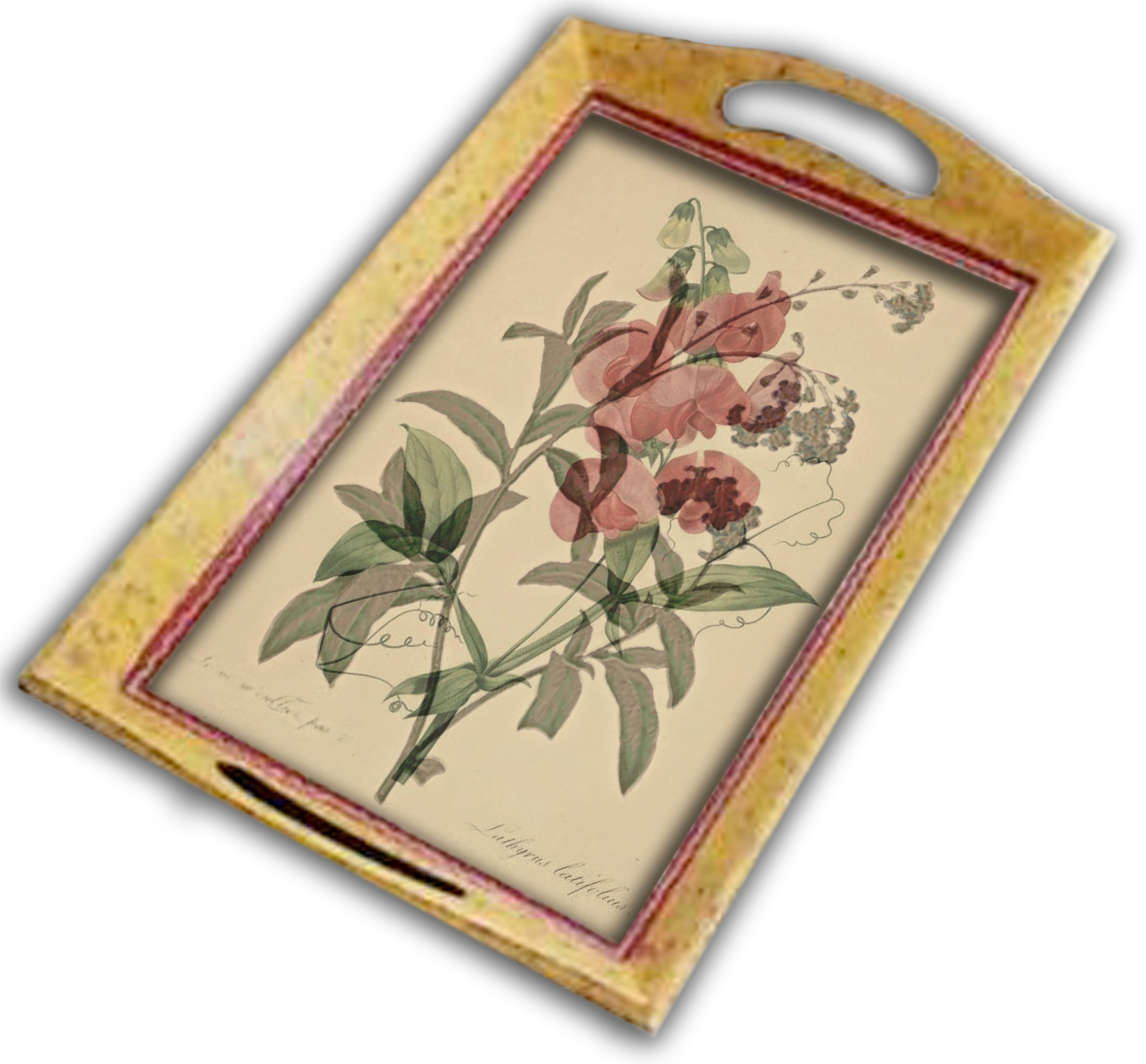 Farmhouse Floral serving tray