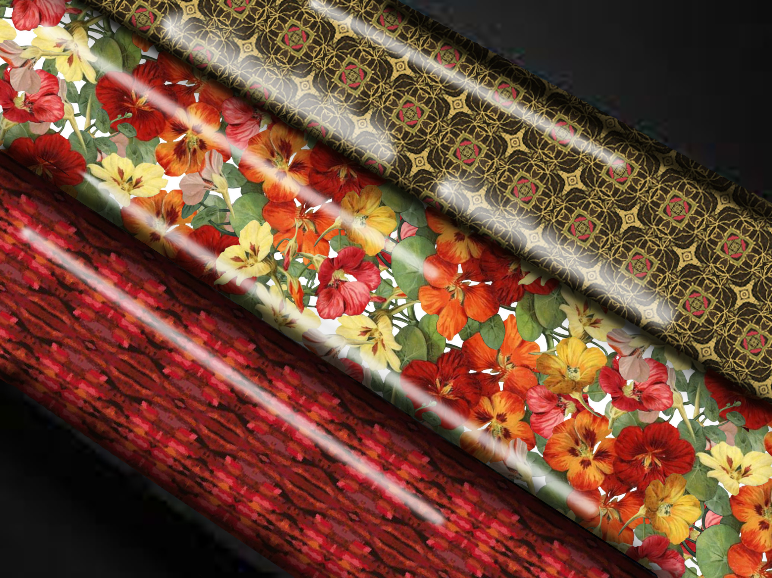 fall flower wrapping paper comp