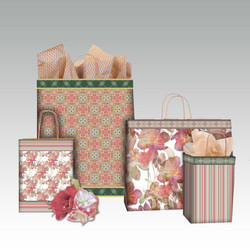 Floral Overlay coordinating shopping bags