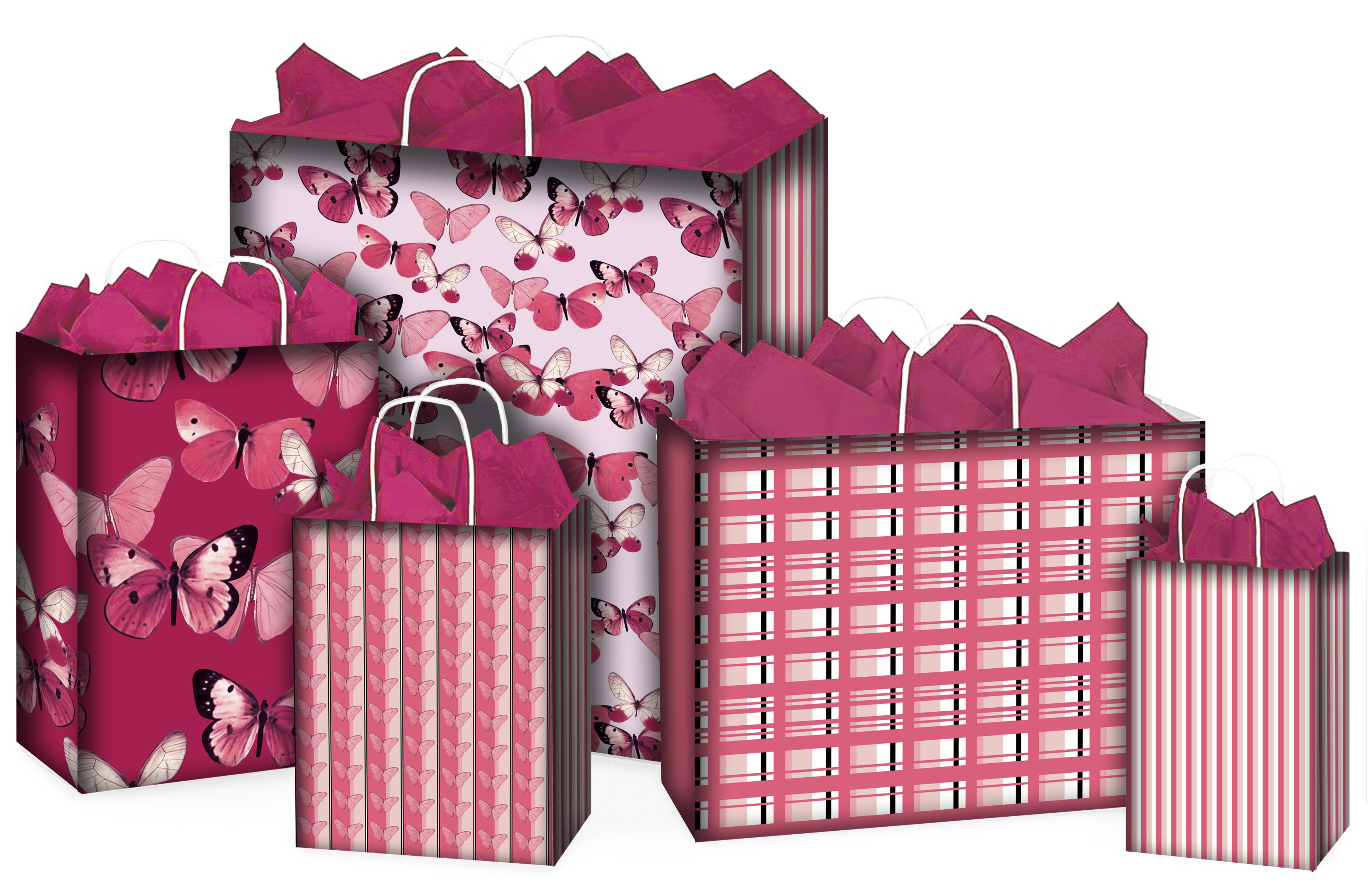 pink butterfly bags