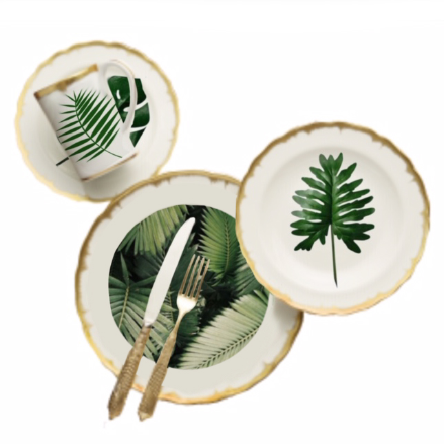 tropical plate set 1
