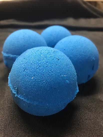 Hibiscus blueberry tea bath bomb