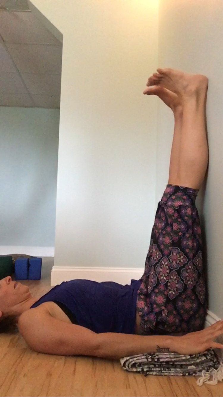 Yoga for Arthritic Spine - Legs Up The Wall - I Am Sam Yoga Therapy