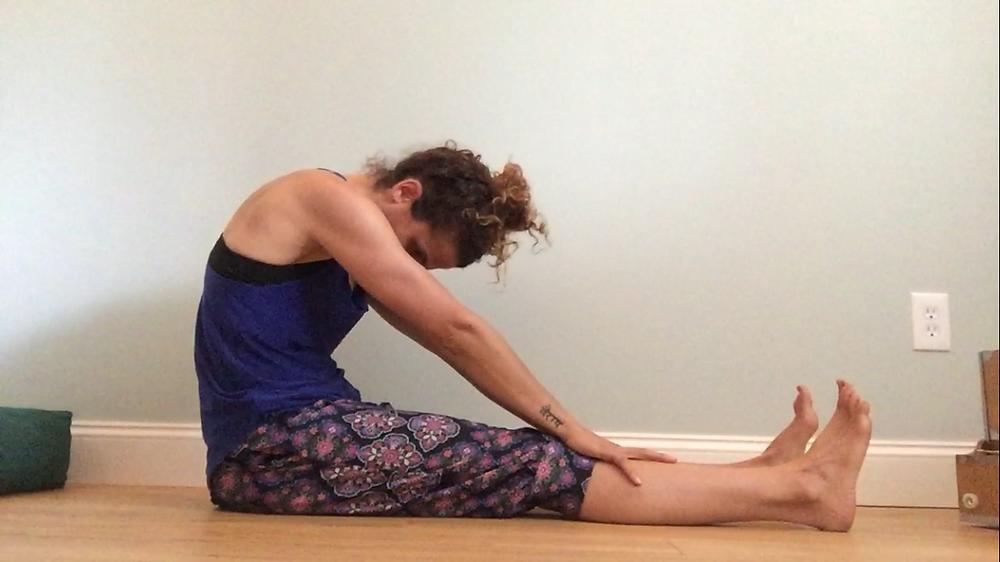 Incorrect Posture -  Seated Forward Fold Yoga for Arthritic Spine