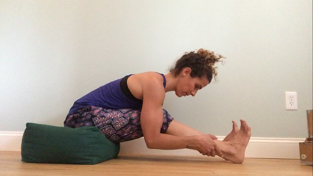 Correct Posture for Seated Forward Fold - Hatha Yoga for Arthritic Spine