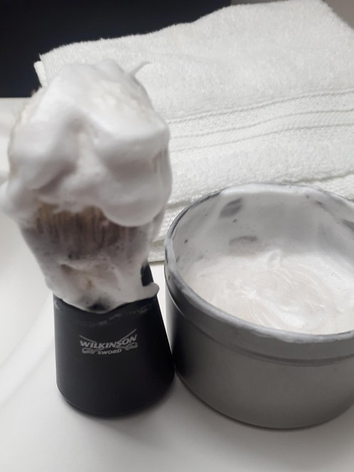 Cedar Leather Dual Lye Shave Soap /wTin
