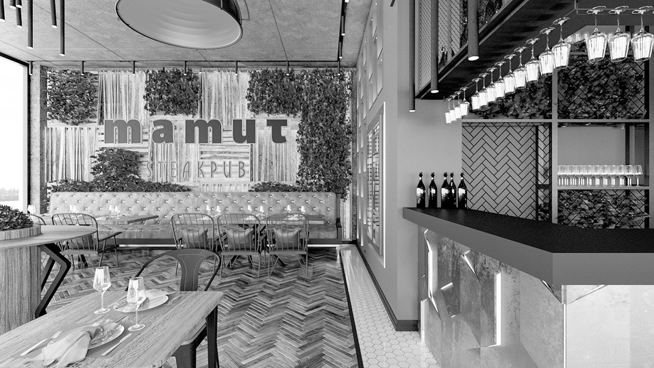 Mamut Steakpub Interior Design and Branding Studies