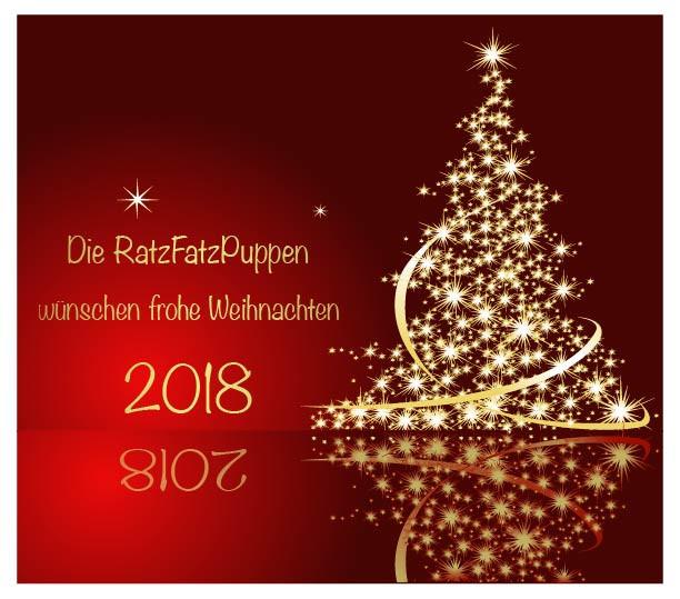 RatzFatzPuppen wünschen frohe Weihnachten 2018