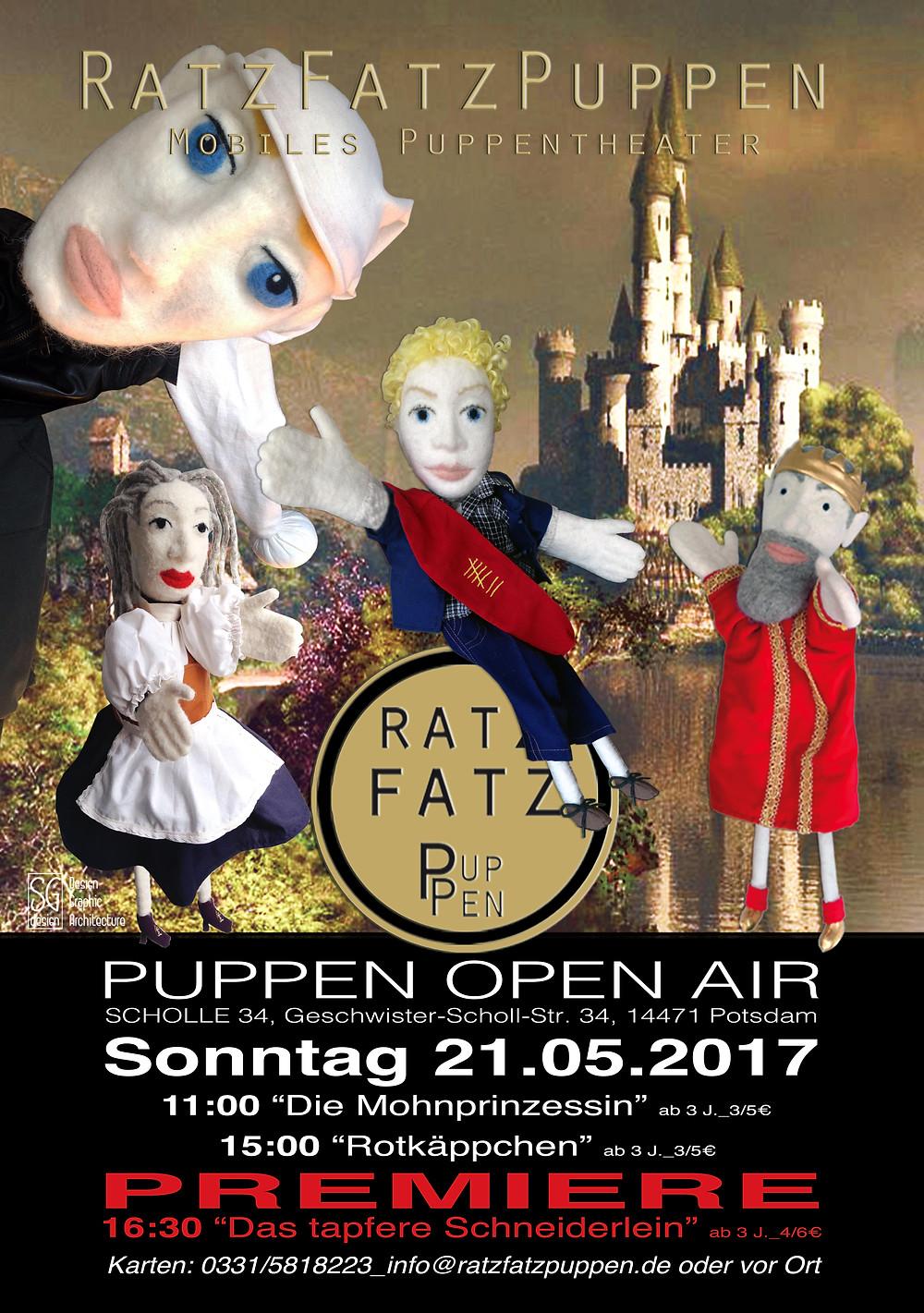 Puppen Open Air, 21.05.2017,  ab 11:00, Scholle 34, 14471 Potsdam