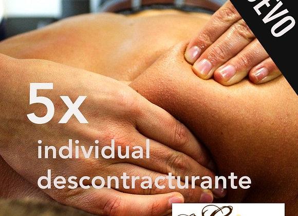 5 x massatges descontracturants duo a 30 € (IVA inclòs)