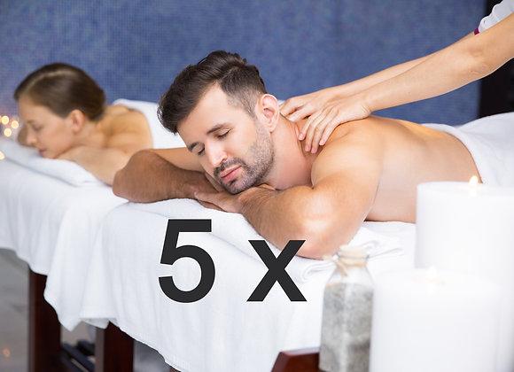5 x massatges descontracturants duo a 40,00 € (IVA inclòs)