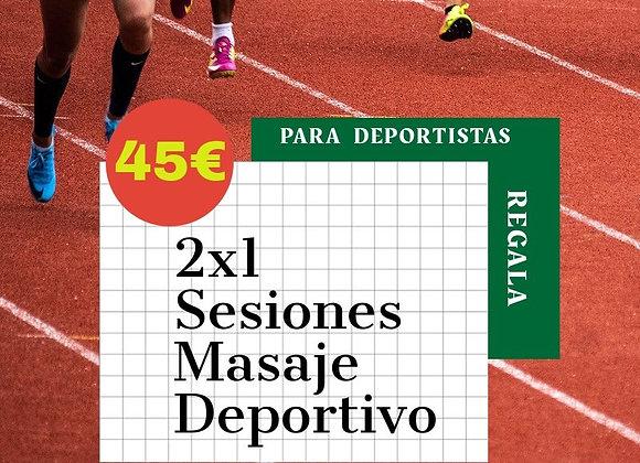 Massatge 2X1 per a esportistes