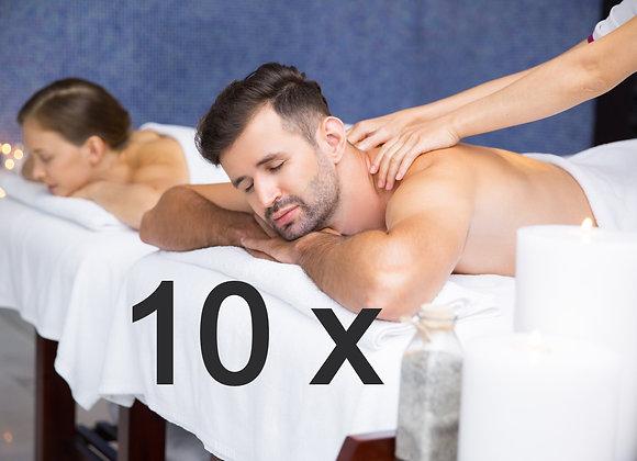 10 x massatges descontracturants duo a 39,00 € (IVA inclòs)