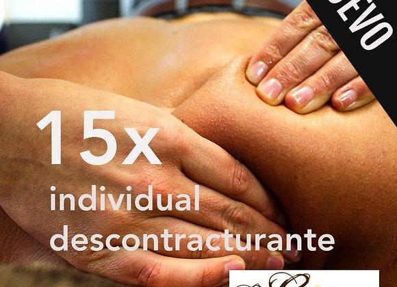 15 x massatges descontracturants duo a 28,50 € (IVA inclòs)