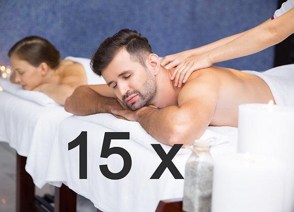 15 x massatges descontracturants duo a 38,50 € (IVA inclòs)