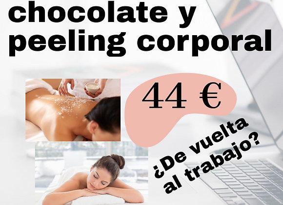 Peeling corporal chocolate y Masaje Chocolate