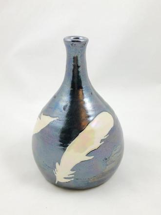 Sgrafitto Feather Bottle, Daisy Friesen