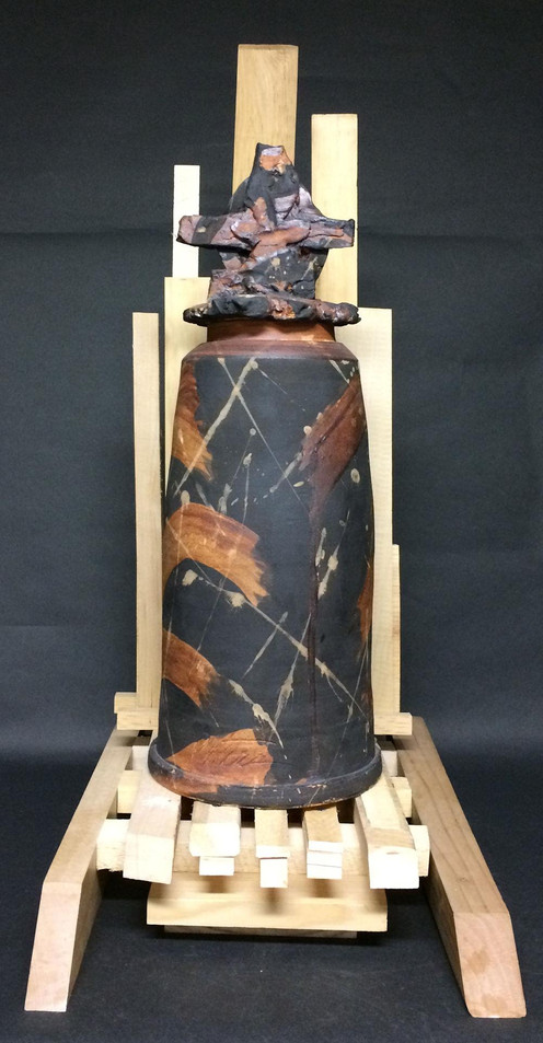 Black & Rust Jar, Larry Peters
