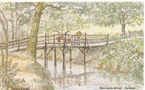 Pooh sticks bridge Hartfield