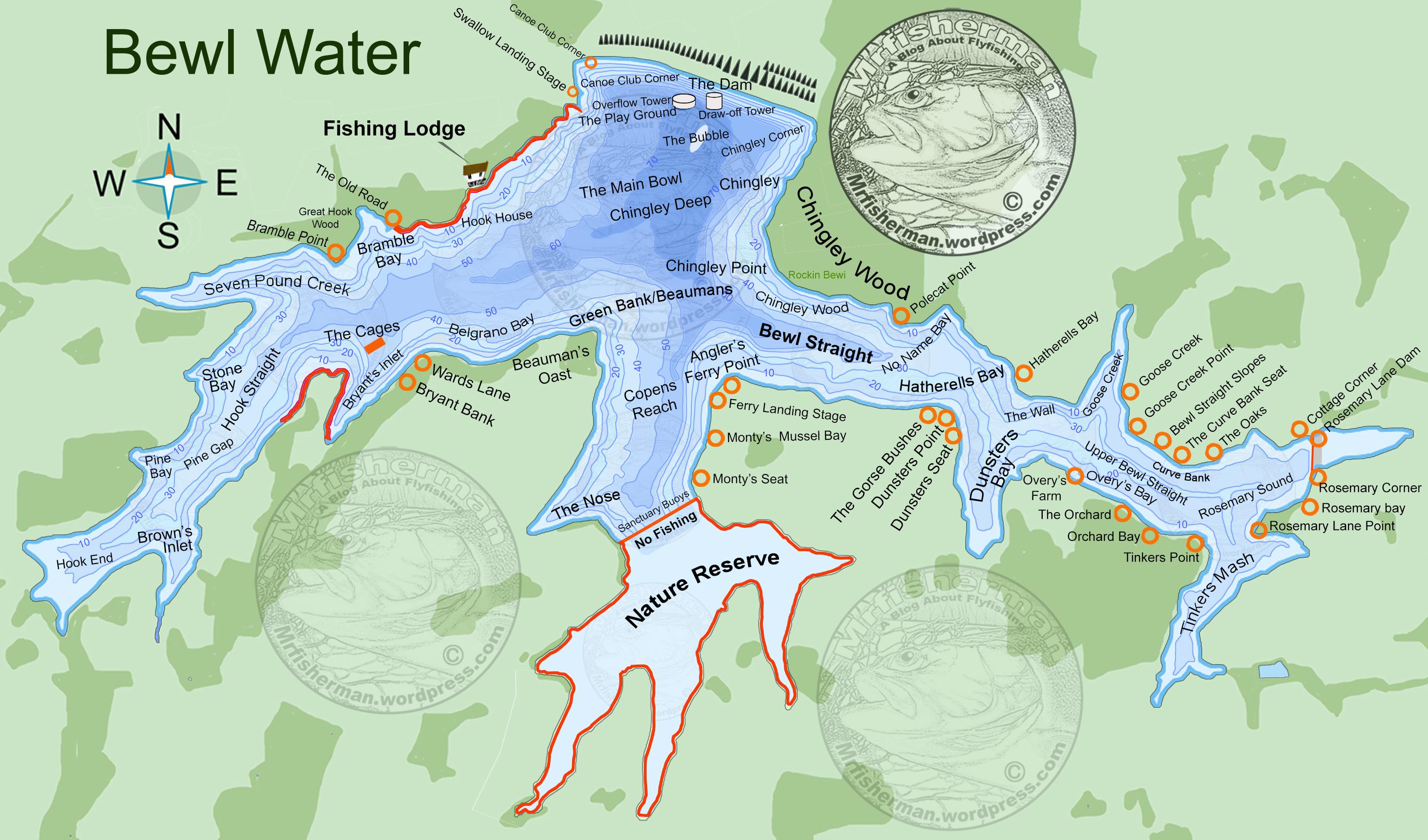 Bewl water map