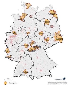 Modellregionen des Bundesmodellvorhaben