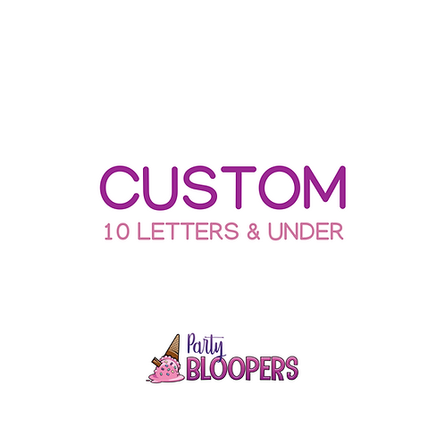 CUSTOM BANNER (10 letters & under)