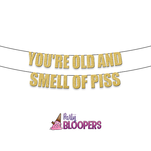 YOU'RE OLD & SMELL OF PISS