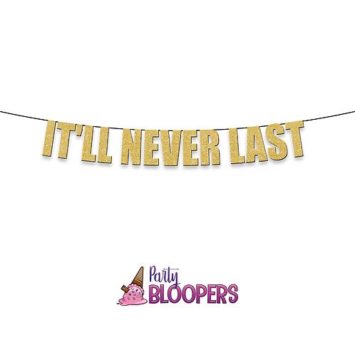 IT'LL NEVER LAST