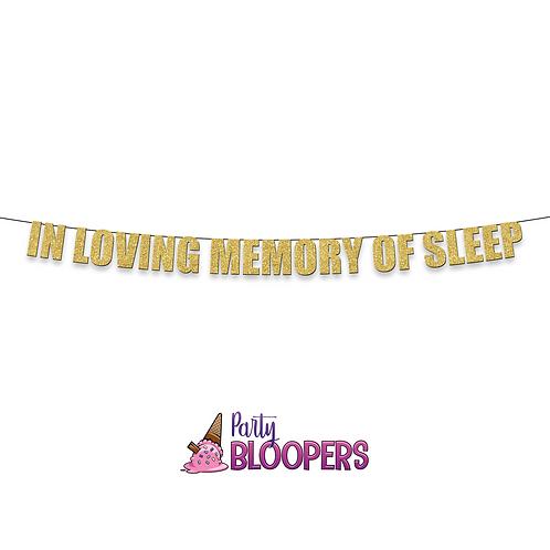 IN LOVING MEMORY OF SLEEP