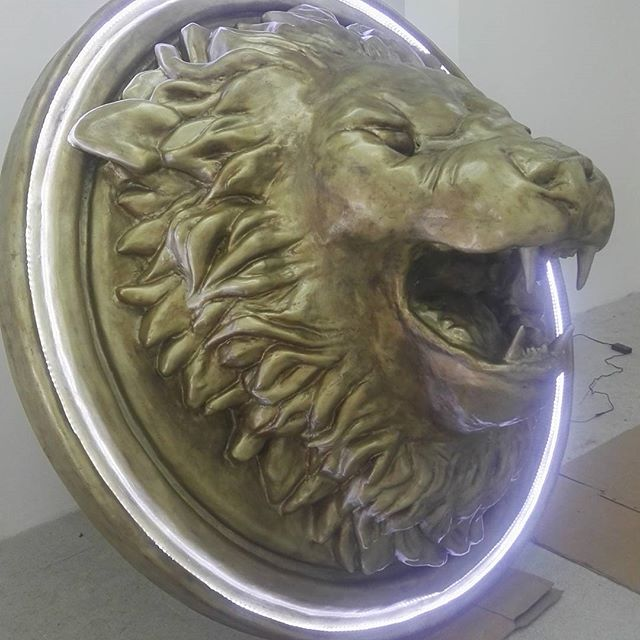 Escultura León Fibra de Vidrio