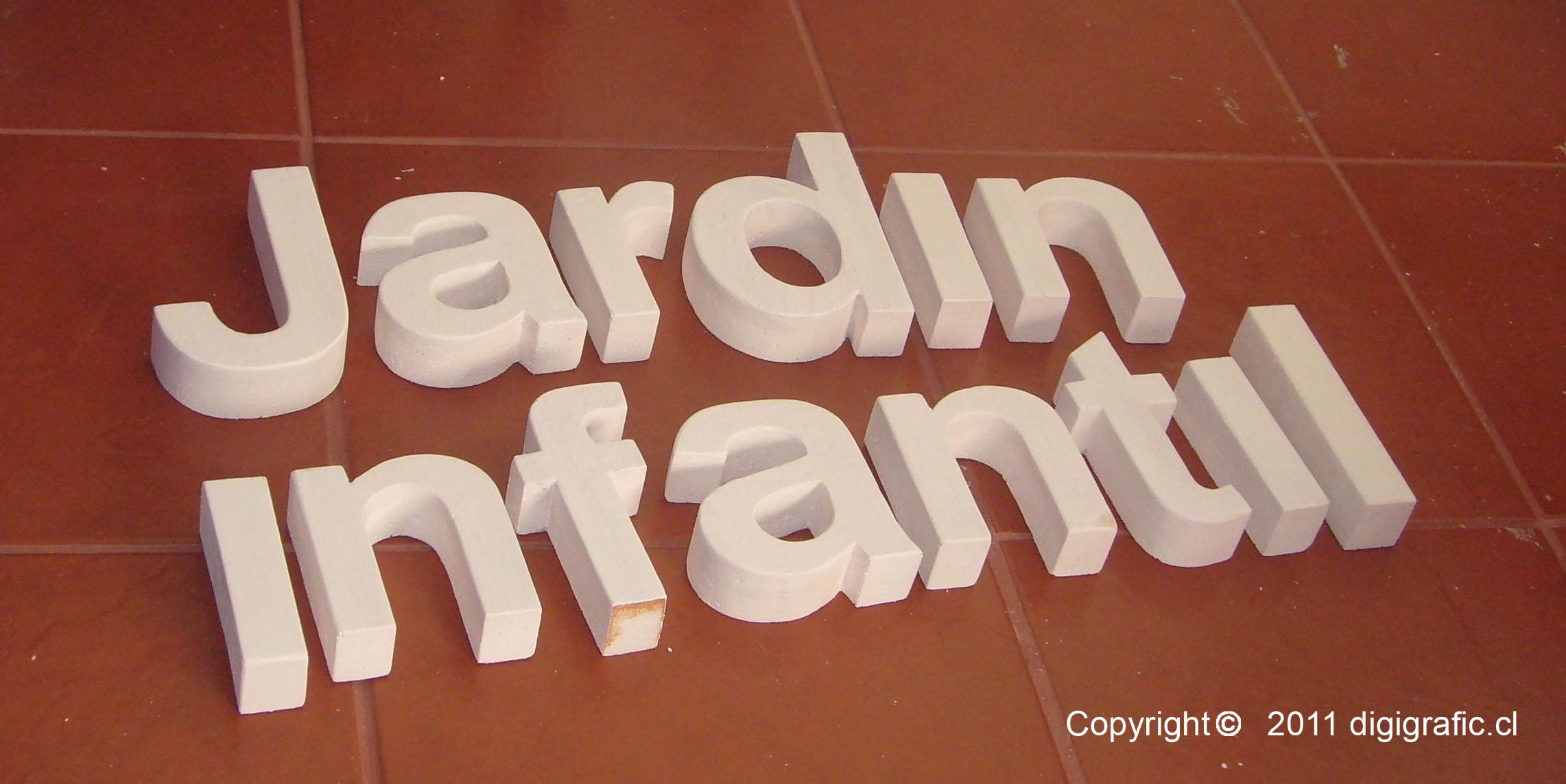 Letras Jardín Infantil Corte CNC