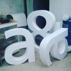 Letras Gigantes Plumavit CNC