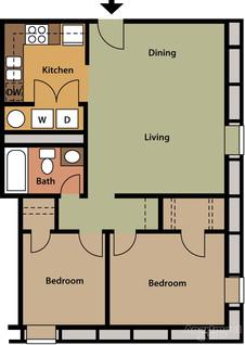 2 Bedroom 755sqft