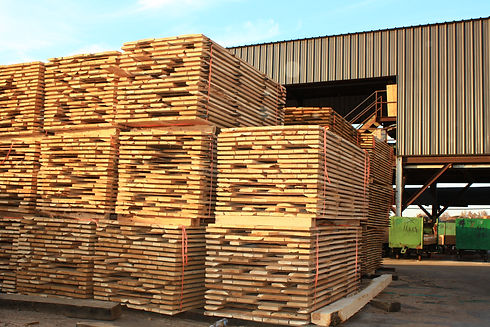 Air Dried lumber at Madison County Wood Products - Fredericktown, MO